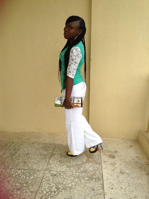 green blazers on white pants