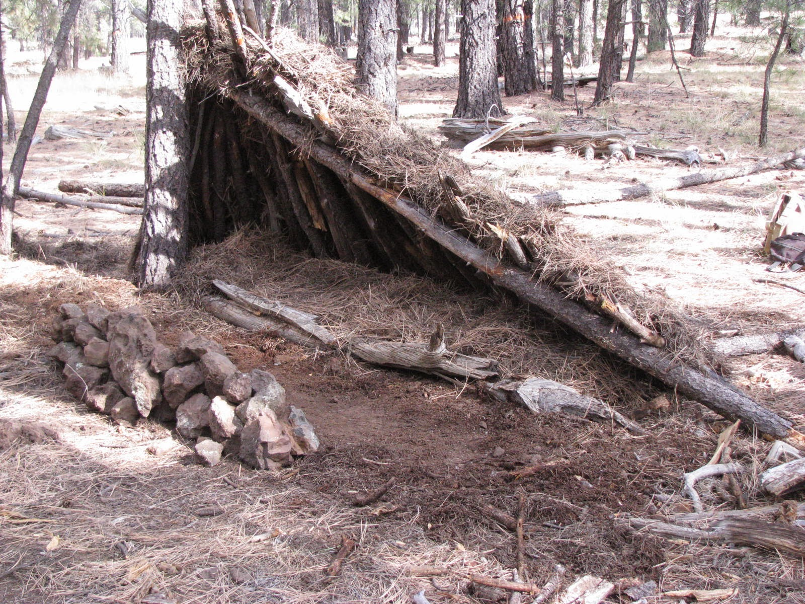 Mountain Man Shelters : Ancient pathways survival school llc natural and