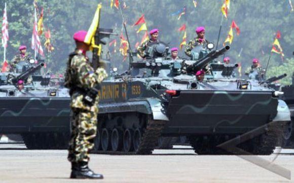 Defile pasukan Korps Marinir