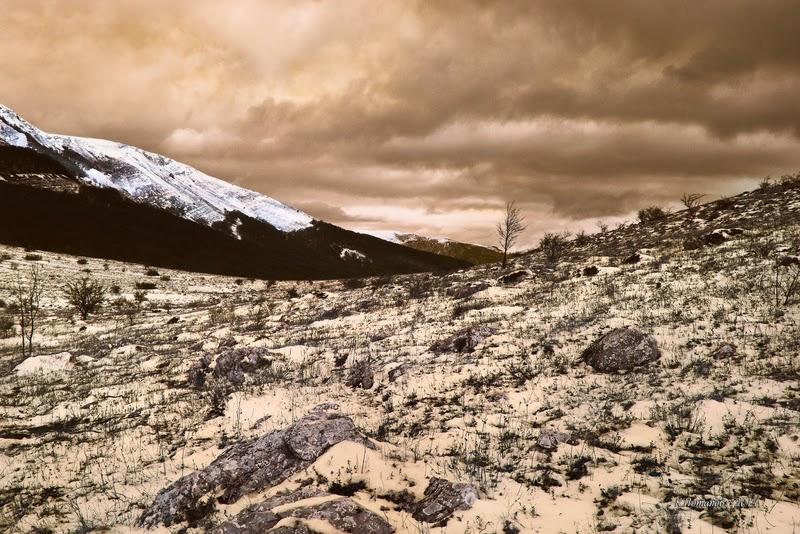 """""""Вид на гору Палатка с юга"""" вид на Чатыр-Даг. Крым, крымский пейзаж, холст 56x85 см   Константин Потапов 2011г."""