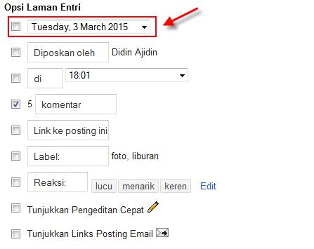 Menghilangkan tanggal posting blog untuk optimasi seo