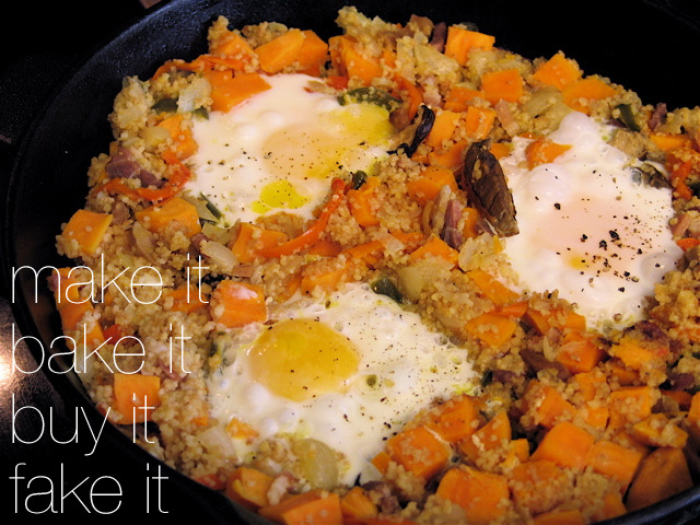 Sweet Potato & Cous Cous Breakfast Hash