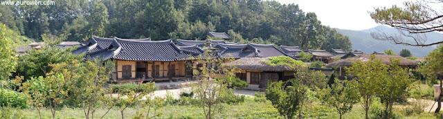 Panorámica de la aldea Museom de Corea