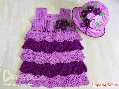summer dresses for girls, crochet pattern