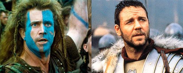 Mel Gibson como Maximus (Gladiator)