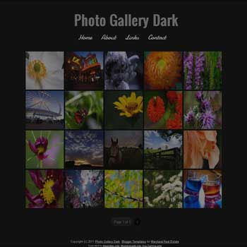 Photo Gallery Dark blogger template. photo template for blog. photo template for blogger. gallery template for blog. gallery template for blogger