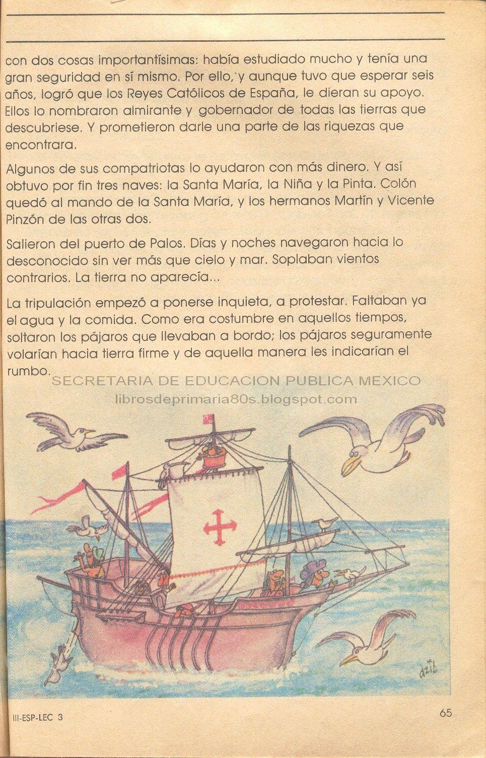 Libros de Primaria de los 80's: Cristóbal Colón - Español