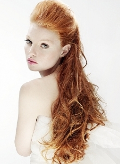 Natural Red Hair Color On Long