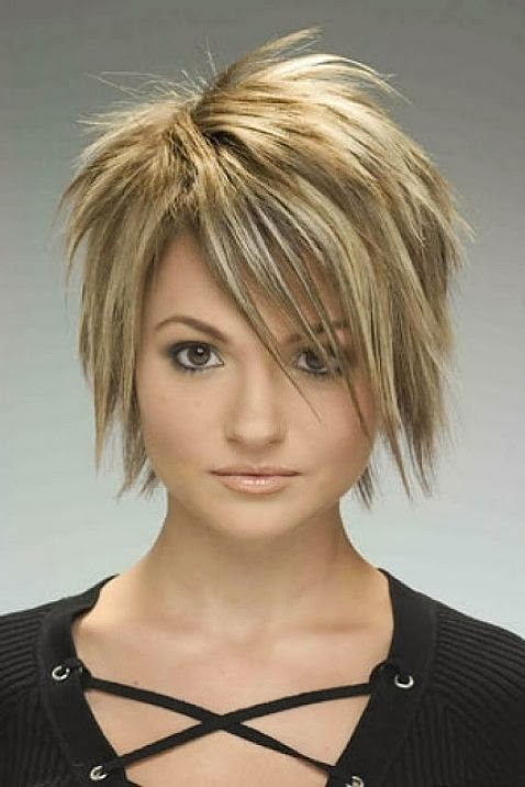 short easy hairstyles Short  for Round Faces Round Face Haircuts Bob Wispy