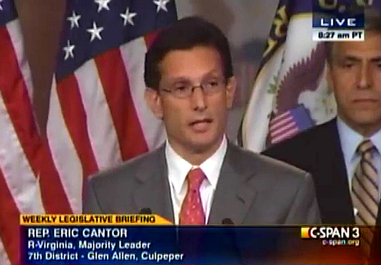 Majority Leader Eric Cantor