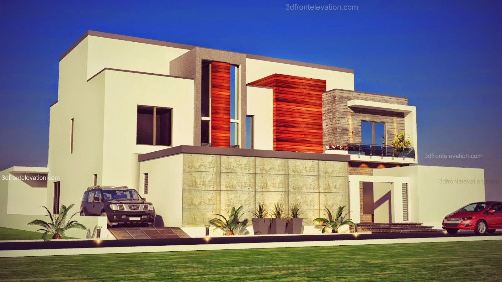 Front Elevation Of Houses In Dubai : D front elevation dubai arabian modern contemporary
