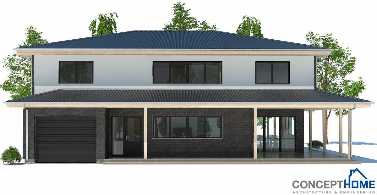 Proyectos de casas modernas proyecto de casa moderna ch179 for Proyectos casas modernas