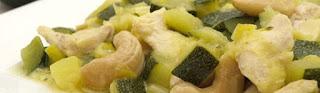 Pollo Salteado en Calabacin y Tomate