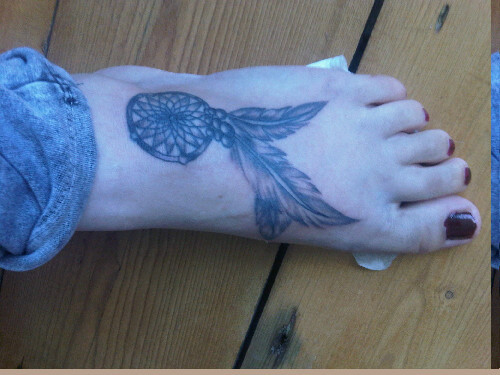 Dreamcatcher Ankle Tattoos
