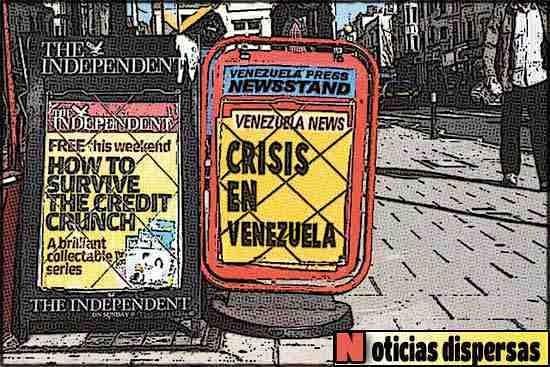 NewsStand tipo cómic - Crisis en Venezuela