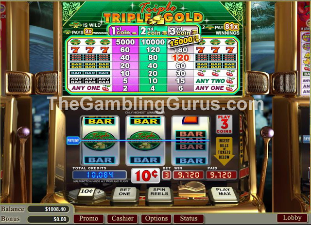 Enlarge Caribbean Gold Casino Winning Pic!