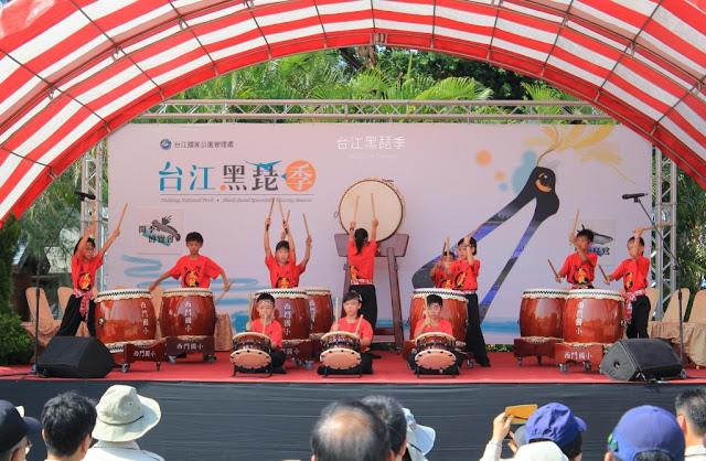 台江黑琵季開幕表演,西門國小太鼓隊