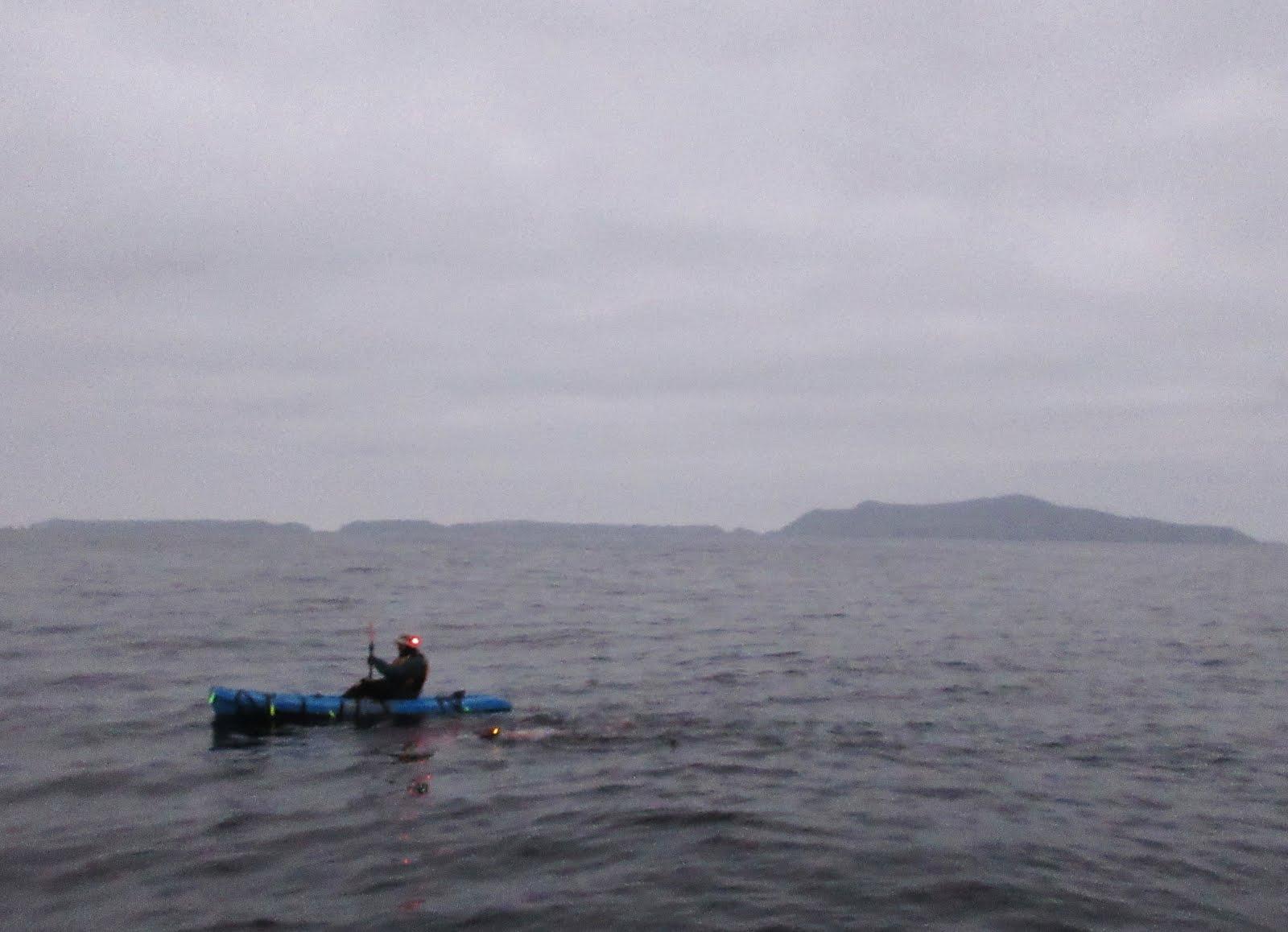 Swimming at dawn past Anacapa Island