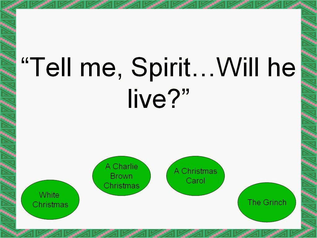 Student Survive 2 Thrive: Famous Christmas Movie Quotes Trivia Game