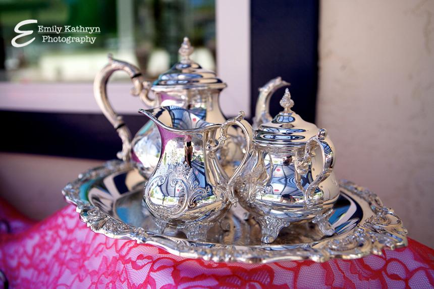 Tea Party Bridal Shower - beautiful tea set from www.thepinkflour.com
