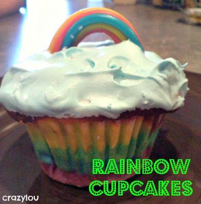 St. Patricks rainbow cupcakes