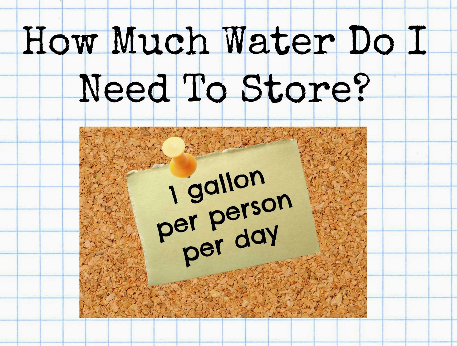 A Gallon Per Person Day Is The Bare Minimum That You Will Need To Youngsters Nursing Mothers May More My Water Was Shut Off One