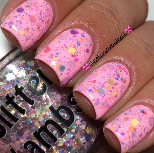 "Glitter Lambs ""Candy Lip Balm"" Glitter Topper Nail Polish Fashion Makeover Collection"