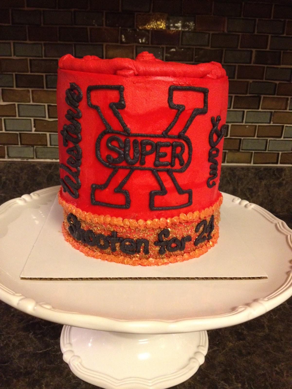 Sisters Baking Co Shotgun Shell 24th Birthday Cake