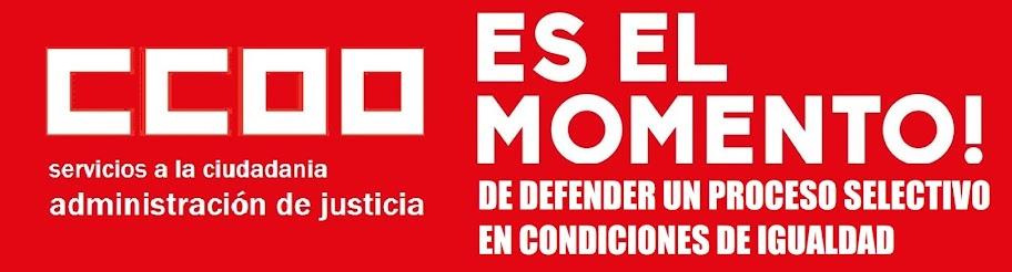 CCOO CONVOCA CONCENTRACIONES EN DEFENSA DE LOS DERECHOS DE MILES DE OPOSITORES/AS