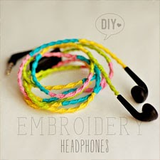 DIY: EMBROIDERY HEADPHONES / AURICULARES DE COLORES