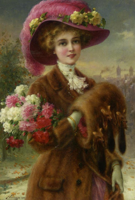 to wear - Woman Victorian painting video