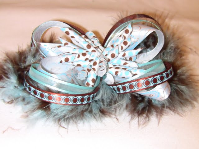 How To Make Hair Bows For Teenagers. I just adore how the blue and