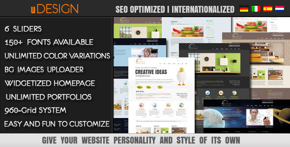 U-Design Wordpress Theme Free Download by ThemeForest.