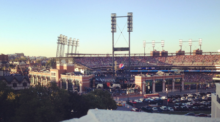 Detroit Tigers capacity crowd, Comerica Park.