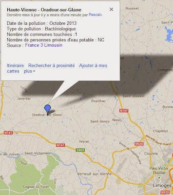 pollution eau du robinet Oradour-sur-Glane
