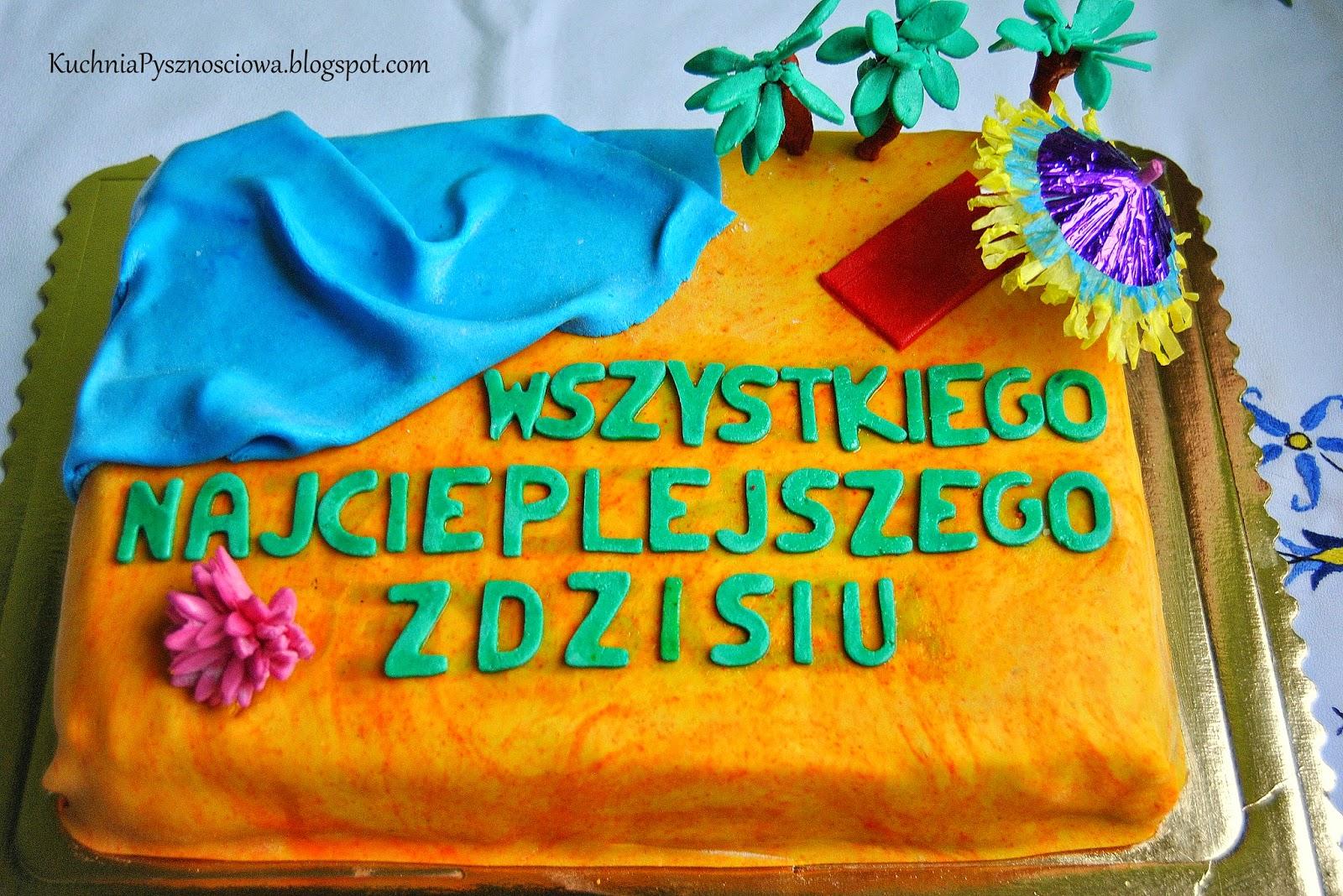 Tort z dziką plażą dla zmarzlucha