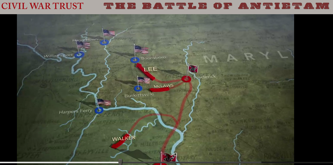 Battle Of Antietam Simple Map Virtual tours of antietamBattle Of Antietam Simple Map