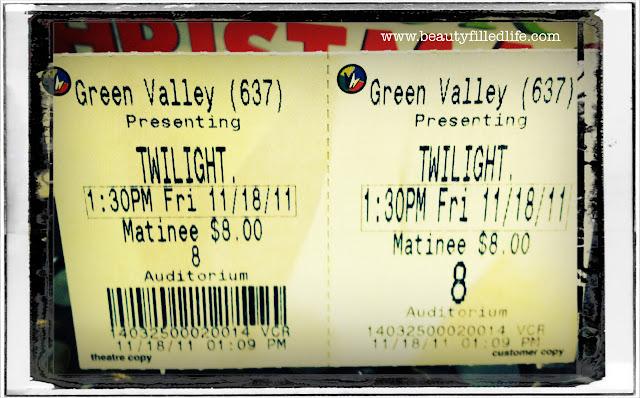 Breaking Dawn, Part 1, Twilight, movie ticket