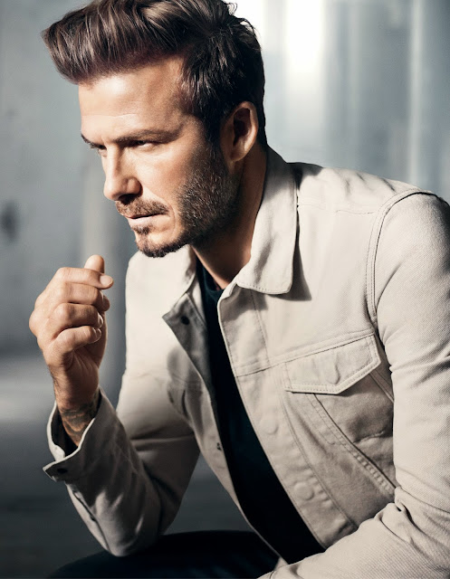 white chalk-washed denim jacket by modern essentials selected by david beckham at H&M