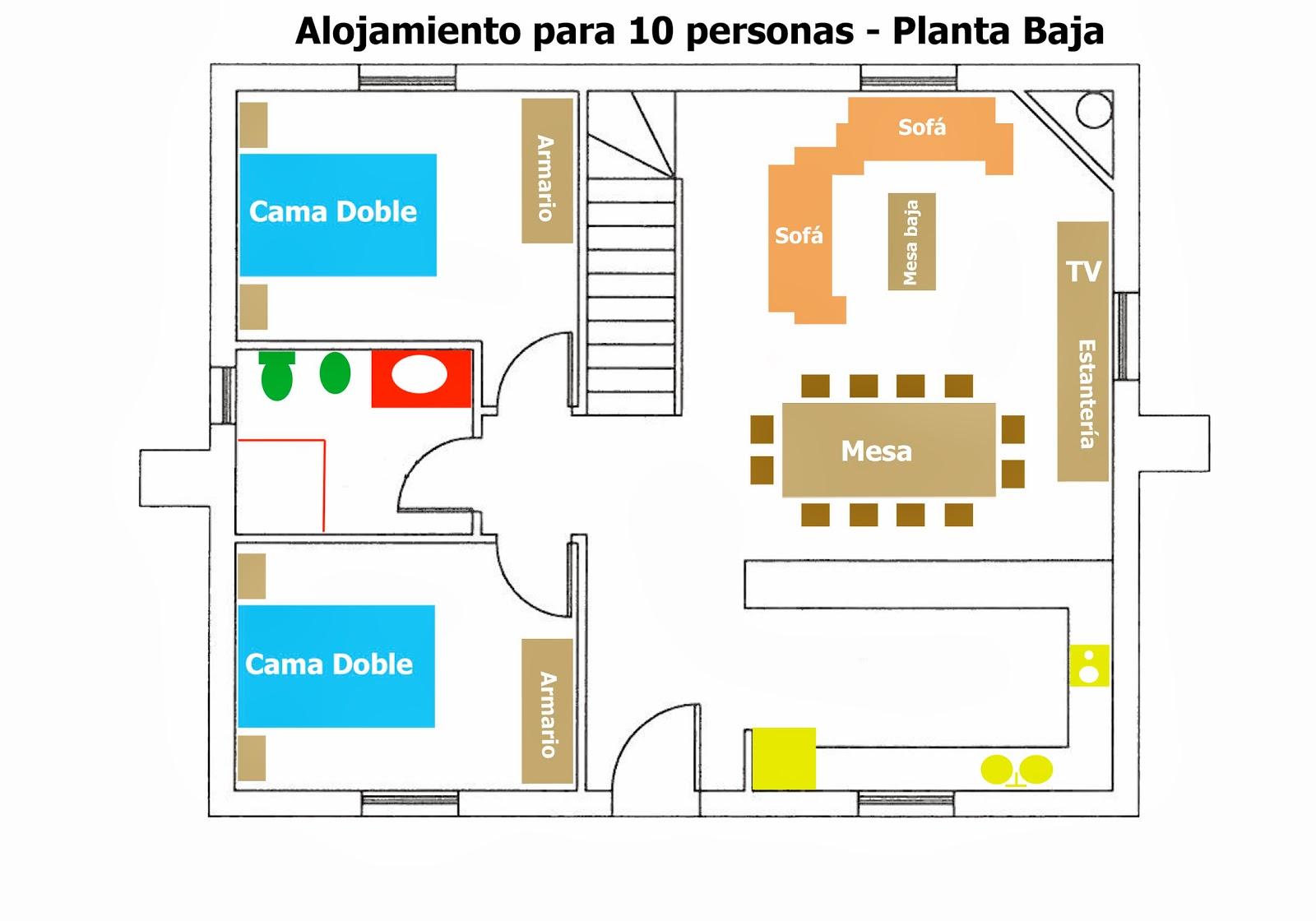 A ora bikend alojamientos for Comedor en planta