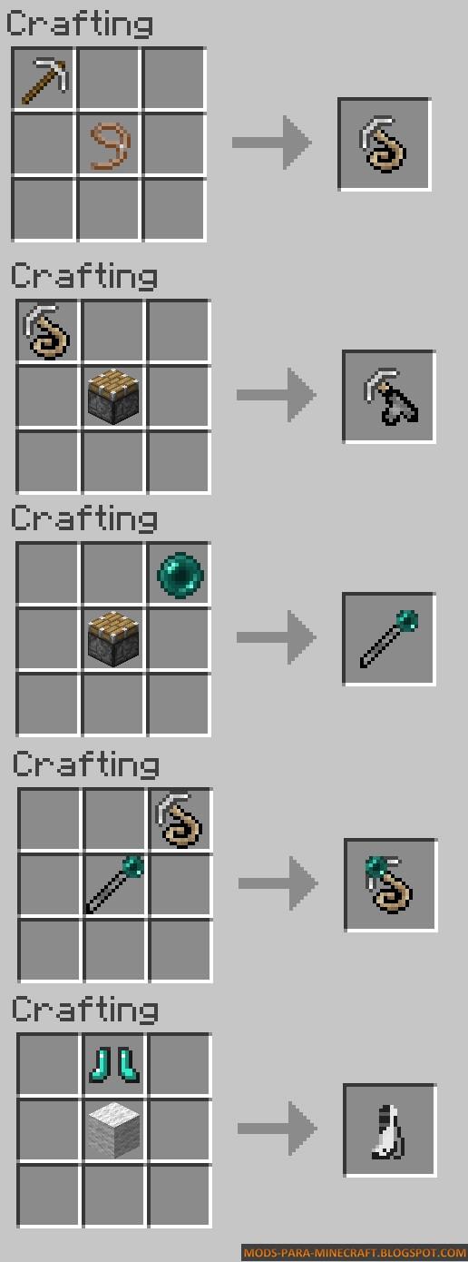 Crafteos del Mod - Grappling Hook Mod para Minecraft 1.7.10/1.8