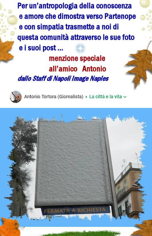 Menzione Speciale da parte della Community Napoli Image Naples