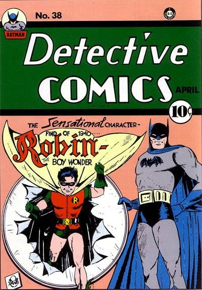 Primera aparición de Robin en Detective Comics 38
