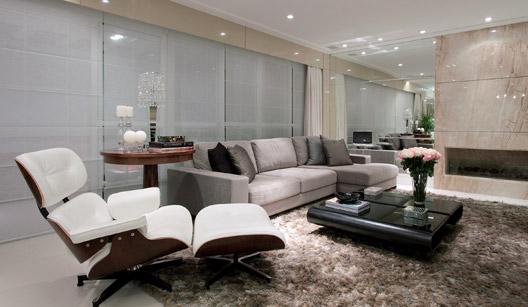 Sala De Tv Com Um Sofa ~ AMO DECOR com Espelho, espelho meu