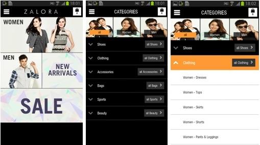 Inilah Tampilan Aplikasi Zalora di Smartphone Android - www.NetterKu.com : Menulis di Internet untuk saling berbagi Ilmu Pengetahuan!