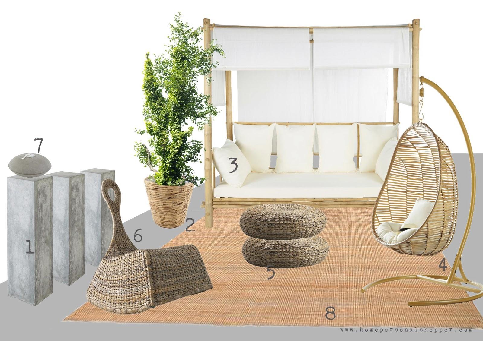 Terrazas homepersonalshopper. zara home, ikea, masion du monde, habitat, donde comprar , madera, blanco, natural, colores