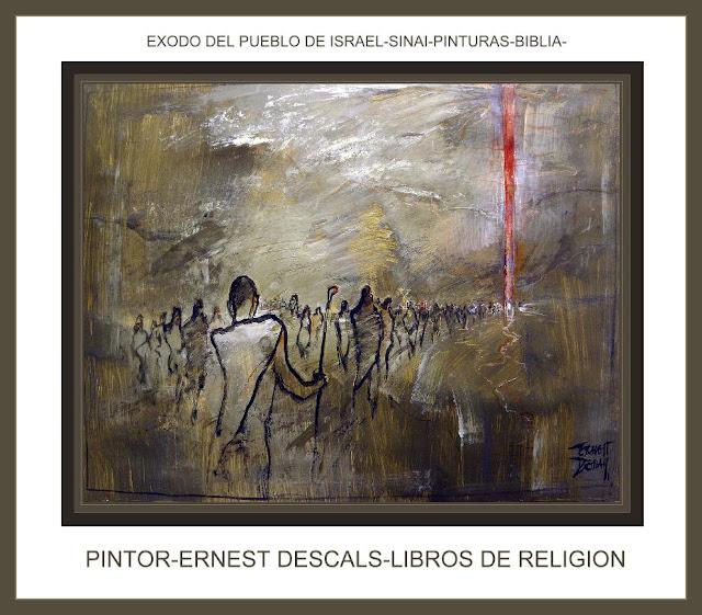 EXODO-BIBLIA-SINAI-LIBROS-RELIGION-PINTOR-ERNEST DESCALS