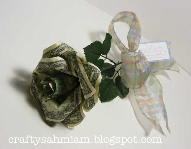 Crafty sahm i am dollar bill rose tutorial dollar bill rose tutorial mightylinksfo