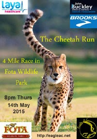 Cheetah Run in Fota Wildlife Park. Entries open 30th Apr