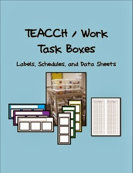 http://www.teacherspayteachers.com/Product/TEACCH-Work-Task-Schedules-Labels-and-Data-Sheets-1135665